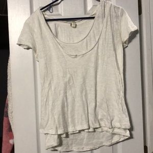 Free People white layered tshirt